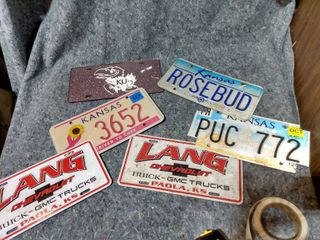 lot of license Plates
