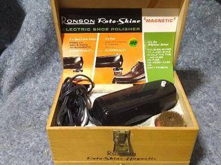 Vintage Ronson Roto Shine Electric Shoe Shiner