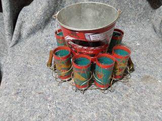tumblers with ice bucket