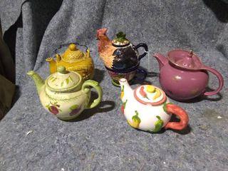 lot of Ceramic Tea Pots