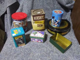 lot of Tin Containers