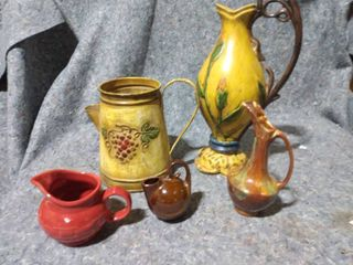 lot of Decorative Pouring Pitchers