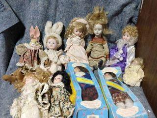 lot of Porcelain Dolls