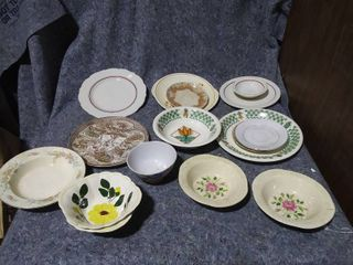 lot of Decorative Plates and Bowls
