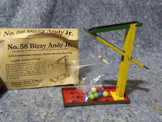 No  58 Bizzy Andy Jr  Vintage Marble Toy