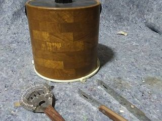Irvinware Ice Bucket and Cocktail Tools