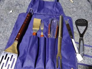 Grill Set and Apron