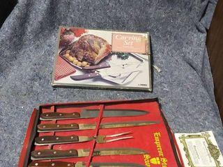Carving Set and Emperor Steel Savoy Knife set