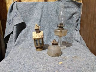 lot of Vintage Oil lamps and lantern