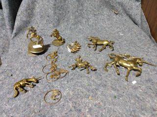 lot of Brass Unicorns