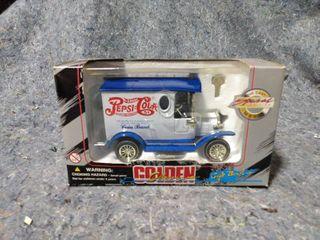 Golden Classic Pepsi Cola Truck Piggy bank