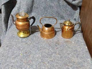 brass pots or kettles