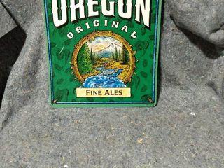 metal beer sign