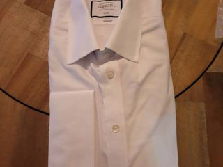 CHARlES TYRWHITT WHITE NON IRON ROYAl OXFORD SlIM FIT DRESS SHIRT SIZE 16 1 2