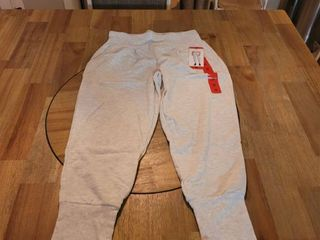 Danskin Women s Slim Tapered Jogger  Oatmeal Heather  Medium