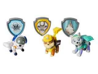 Paw Patrol Action Pack Pups Figure Set  3 Pack  Everest Robodog Rubble