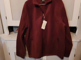 CORE365 BY NORTHEND MEN S BURGUNDY JACKET SIZE lARGE
