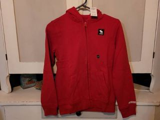 ABERCROMBIE RED JACKET SIZE 11 12