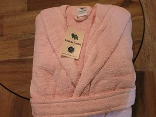 lINUM KIDS PINK BATHROBE SIZE l  10 11 12