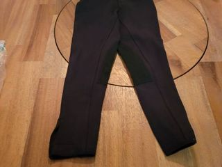 One Stop Equine Shop lyla Children s low Rise Pull On Breech  Horse Riding Pants  Black 8