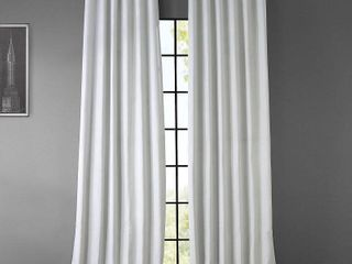 Faux linen 50  x 120  Blackout Curtain Panel