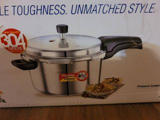 Prestige 4l Alpha Deluxe Induction Base Stainless Steel Pressure Cooker  4 0 liter