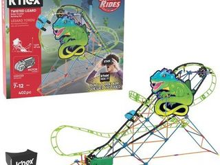 K NEX Thrill Rides Twisted lizard Roller Coaster Building Set with Ride It