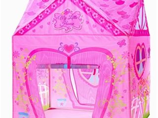 Kids Tent Princess Pink Flower Play Tent for Indoor and Outdoor Fun Roomy Enough for 2 3 little Girls Play Together