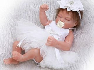 iCradle 26cm 10inch Mini lovely Cute Realistic lifelike Full Silicone Vinyl Body Sleeping Reborn Baby Doll