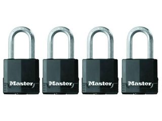 Master lock Padlock  Magnum Covered laminated Steel lock  1 7 8 in  Wide  M115XQlF  Pack of 4 Keyed Alike