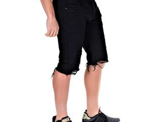 Smoke Rise Mens Basic Rip Off Shorts Black Size 40