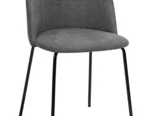 Carson Carrington Idemala Mid Century Modern Brushed Fabric Dining Chairs   Set of 2