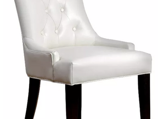 Napa Ivory leather Dining Chair