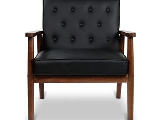 Retro Modern Wooden Accent Club Chair