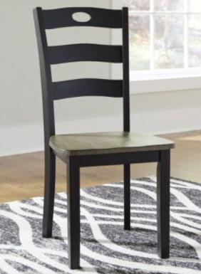 The Gray Barn  Signature Design Ashley Black Dining Chair D33801