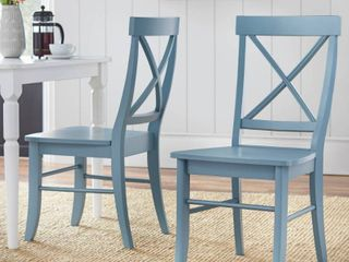 Set of 2 Albury Dining Chairs Blue   Buylateral
