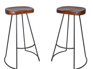 Carolina Forge set of 2 bar stools