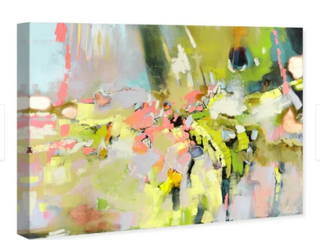 Oliver Gal  Michaela Nessim   Energy and Breakthrough Bright  Abstract Wall Art Canvas Print   Green  Gray  Retail 229 99