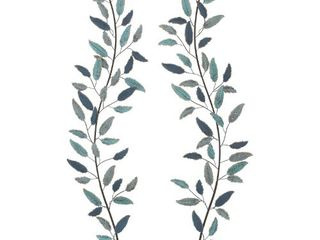 Set of 2 Natural 59 Inch Iron leaf Wall Decor by Studio 350  Retail 85 49