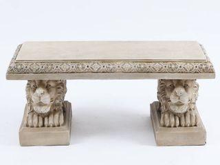 39in  lion Decorative Garden Bench  Retail 248 49