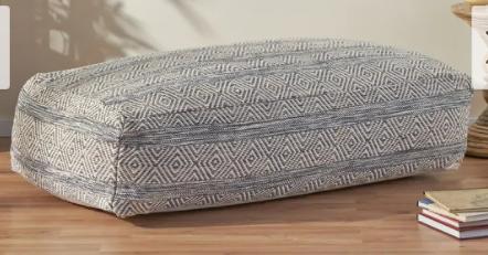 Gambriel Boho Rectangular Bean Bag Ottoman by Christopher Knight Home  Retail 209 99