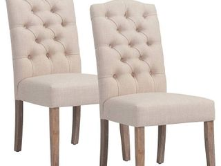 nspire Button Tufted Dining Side Chair   Set of 2