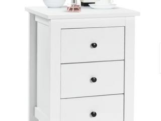 Bedroom 3 Drawer Nightstand Beside Table Modern Storage  Retail 116 49