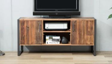 Urban Rustic Wood and Metal TV Stand CB770241TV