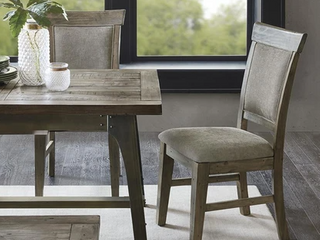 Oliver Wood Frame Upholstered Dining Side Chair  Set of Two