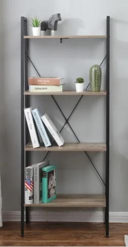 Carbon loft Ogzewalla Wood and Metal ladder Shelf 4 tier Etagere