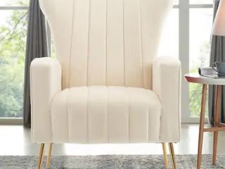 Modern Velvet Accent living Room Arm Chair  Retail 337 49