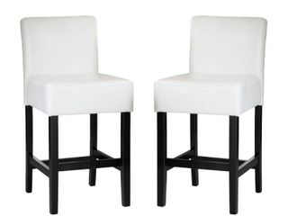 lopez 26 inch Ivory leather Counterstools  Set of 2  by Christopher Knight Home   Retail 188 99