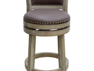 29 inch Cantabria Wire brush Swivel Stool  Weathered White  Retail 128 49
