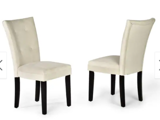 Copper Grove Zinnia Microsuede Dining Chairs  Set of 2  Retail 160 19
